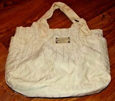 MARC JACOBS CREAM COLORED QUILTED WORKGEAR HANDBAG