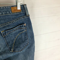 Eddie Bauer womens size 6S stretch blue med wash mid rise curvy bootcut jeans