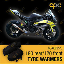 Black Superbike tyre warmer set front rear race track motorcycle tire warmers D3