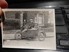 SHOW OFF! MOTORBIKE SIDECAR COMBi to mother in law  SUPER PORTRAIT FULL OF LIFE