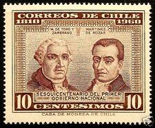 CHILE, MATEO DE TORO Y ZAMBRANO AND JUAN MARTÍNEZ DE ROZAS, MNH, YEAR 1960