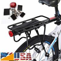US-Bicycle Mountain Bike Rear Rack Seat Post Mount Pannier Luggage Carrier Metal