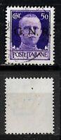 G.R.N. - 1944 - Verona - cent 50 - sassone 477  - soprast nera -
