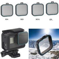 Für Gopro Hero 5 6 7 Kamera ND4 + ND8 + ND16 + CPL Polarizing HD Linse Filters