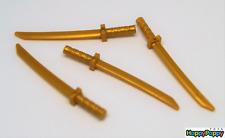 Lego Ninjago 4 x Katana Schwert Waffe gold Sword Weapon 21459 Neuware / New