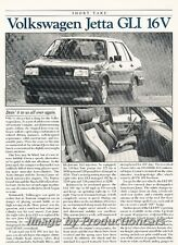 1988 VW Volkswagen Jetta GLI 16V 1987 Original Car Review Print Article J681