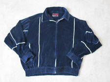 VINTAGE Fubu Track Jacket Adult Extra Large Blue White Full Zip Spell Out 90s *