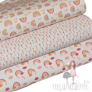 Rainbow Printed Bow Fabric Canvas Hair Bows - Rainbow Bundle 2