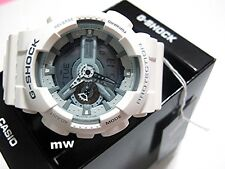 New Casio G-Shock GA-110C-7A White Colors Sports Men's Resin Watch GA110 GA110C