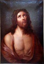 Grand tableau ancien 17-18ème -  portrait de Jesus  Christ