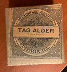 Antique Apothecary Package Herb Allaire Woodward Co. Peoria Ill Tag Alder