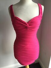 Jane Norman Ladies Textured Knot Pink Dress Size 8. BNWT RRP £35.