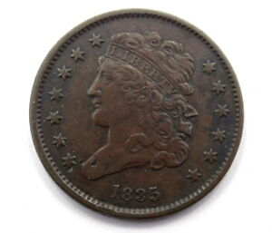 HIGH GRADE 1835 CLASSIC HEAD HALF CENT 1/2C Large Old Type Half Penny Coin