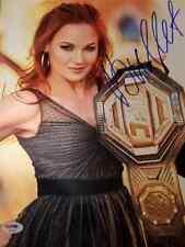 Valentina Bullet Shevchenko Signed Autographed Ufc 11X14 METALLIC PSA