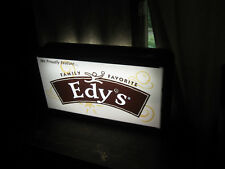 """Edy""""s Family Favorite Ice Cream Sign Lighted & Double Sided"""