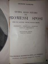 GUIDA ALLO STUDIO DEI PROMESSI SPOSI Giuseppe Basilone Federico Ardia 1954 libro