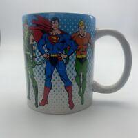 dc comics super heroes Coffee Mug Superman Batman Flash Hawk Eye  Green Lantern