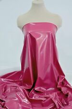 "PLEATHER STRETCH FUCHSIA 58"" PVC FABRIC ..COSTUME..CRAFTS..PAGEANT..DECOR.."