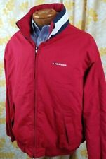 TOMMY HILFIGER - Big Flag Red Hood Squall Yachting Boat Jacket Mens Lg - NICE