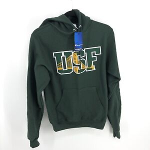 NEW Champion USF University of San Fransisco Hoodie Green