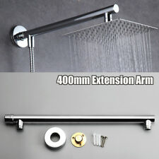 16'' 40cm Chrome Wall Mounted Bathroom Shower Extension Arm For Rain Shower Head