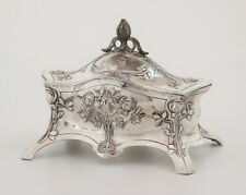 Art Nouveau Jugendstil WMF Silverplate Pewter Jewelry Box Casket