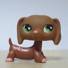 Littlest Pet Shop Collection LPS #556 Green Eyes Brown Daschund Dog Toy