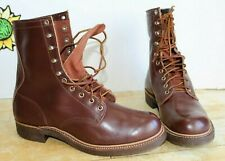 Vintage Montgomery Ward Men's Permacounter Brown Sport Boots,Size 10 E USA Made.