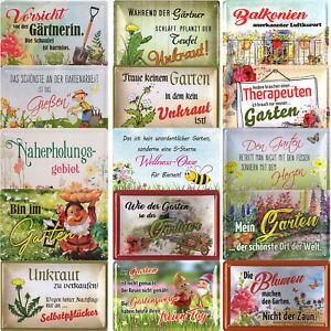 Blechschilder 20x30cm Garten Wellness Oase Hobby Gärtner Blumen Pflanzen Schild