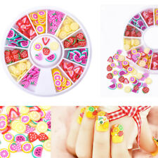 3D Mini Colorful Fruit Fimo Slice Stickers DIY Nail Art Wheel Tips Decorations