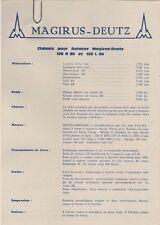 Magirus-Deutz 120 L/R 80 Specification 1974-75 French Market Leaflet Brochures