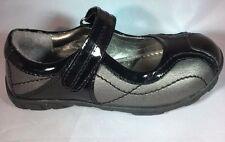 School Shoes Kenneth Cole Black & Pewter NIB Little Girls Size 8 1/2 M