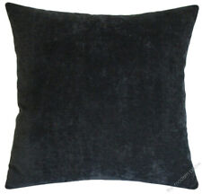 """Graphite Gray Velvet Solid Decorative Throw Pillow Cover / Cushion Cover /18x18"""""""