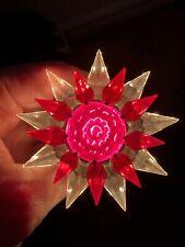 Vintage Christmas Matchless Wonder Star 910 Series Crystal Red Intermediate Base