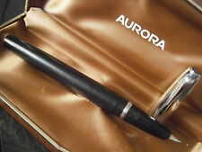 AURORA 88 DUO CART PENNA STILOGRAFICA NERA E ORO 14K + scatola Fountain pen '60
