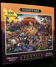 NOAHS ARK NEW BOXED DOWDLE FOLK ART COLLECTORS JIGSAW PUZZLE 500 PCS 16X20