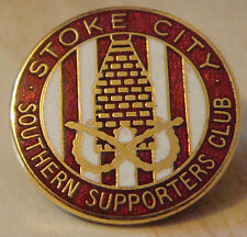 STOKE CITY Southern Supporters club badge Maker REEVES B'ham Brooch pin 25mm Dia