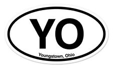 "YO Youngstown Ohio Oval car window bumper sticker decal 5"" x 3"""