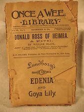 Once a Week Library Donald Ross of Heimra William Black Rare old antique paper b