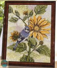 Cross Stitch Kit ~ Plaid-Bucilla Sunflower Bluejay Bird in Nature #45818