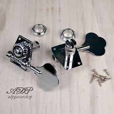 2 x MECANIQUE BASSE SANDBERG P-J BASS CHROME Tuners RIGHT SIDE - GAUCHER / Lefty