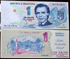 ARGENTINE  billet neuf 1 ?  PROPAGANDE POLITIQUE DE CARLOS SAUL MENEM