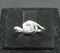 STYLISH SOLID STERLING SILVER RING 925 CZ NEW SIZE G - Z R000111