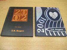 2 T.H. ROGERS Houston Texas Yearbooks 2001 - 2002