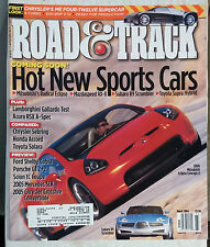 ROAD & TRACK CAR MAGAZINE 2004 MARCH MITSUBISHI ECLIPSE SPIDER TOYOTA SUPRA