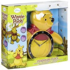 Disney Winnie The Pooh Bear Motion Swinging Legs Pendulum Wall Clock BRAND NEW