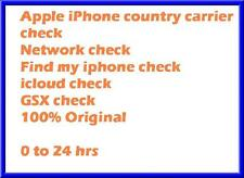 Fast iPhone IMEI checker Network Carrier Check Sim lock status check All Models