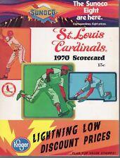 1970 Baseball program Montreal Expos @ St. Louis Cardinals, unscored ~ VG