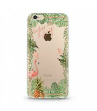 Coque Iphone 7 Iphone 8 Tropical day Flamant Ananas summer Exotique fleur