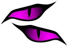Par de grandes ojos Mal Ojo Dk Rosa Etiqueta Engomada Del Vinilo Coche Moto Color 140x60mm